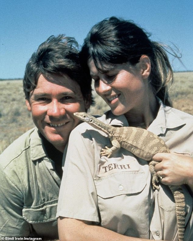 Sweet tribute:Bindi Irwin has paid tribute to her parents on what would have been their 29th anniversary. Posting to her Instagram on Friday, the 22-year-old shared a throwback picture of her late father Steve Irwin and mother Terri