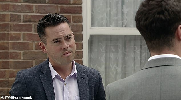 Dropped: Bruno, who played Todd for 16 years, was hastily written out of the soap following his assault charge, with the character going on the run (pictured in 2017)