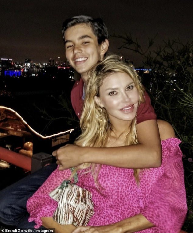 Her pride and joy: Brandi, 48, shares Mason (pictured) with Eddie. The couple famously split in 2009, after it was revealed he had an affair with LeAnn