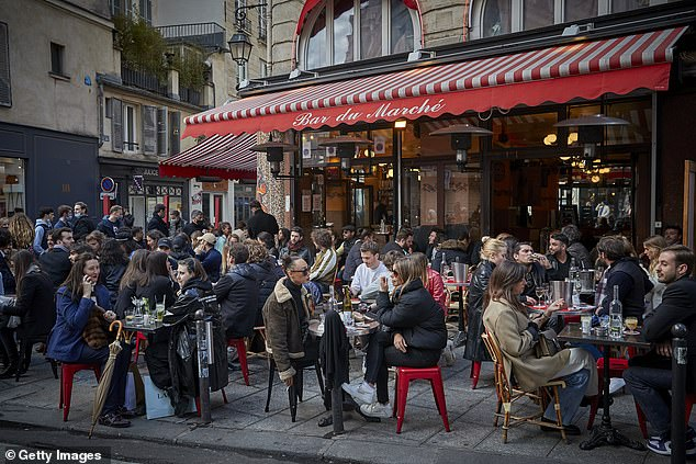 Paris's pavement cafes opened for the first time in months on May 19