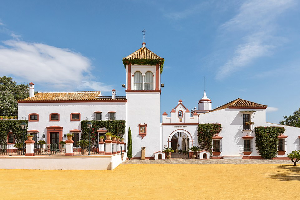 The Spanish pop duowill welcome guests to an Andalusian villa, pictured,close to the city of Dos Hermanas, that inspires their music