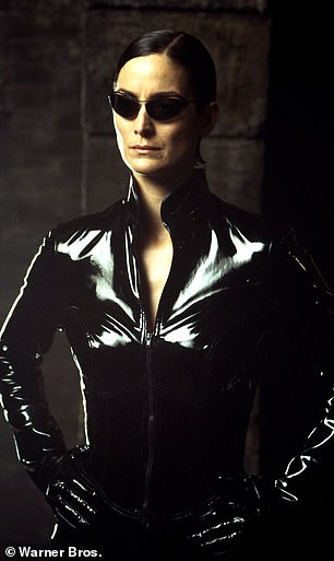 Blockbuster:Carrie-Anne Moss is pictured in The Matrix in 2003