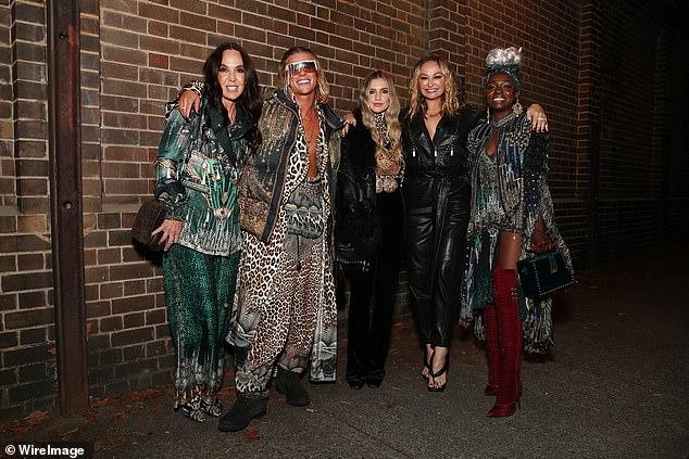 Pals: Among her pals was her Celebrity Apprentice co-starJanine Allis (far left)