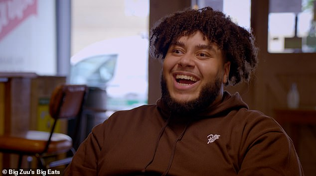 Guest:Maya appears on the first episode of the BAFTA-nominated series in which grime artist and self-taught chef Big Zuu (pictured) chats to a plethora of famous faces while dishing up finger-licking food