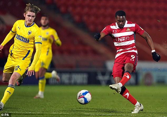 Doncaster striker Fejiri Okenabirhie has had support through League Football Education