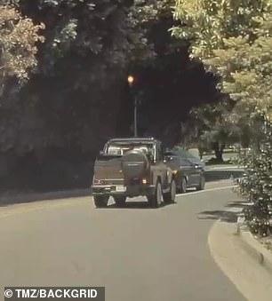 He was seen allegedly speeding through a neighborhood