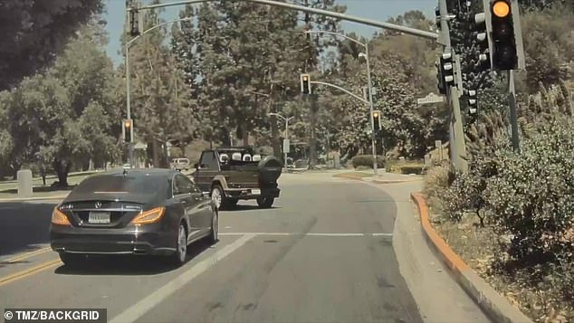 In a rush: The traffic light was red when he made the left