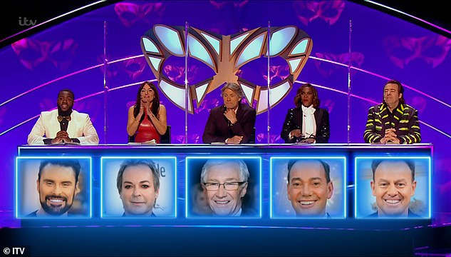Amazing:Oti, 30, was the only judge to guess correctly that Craig was Knickerbocker Glory while the rest of the judges - Mo Gilligan, Davina McCall, guest John Bishop and Jonathan Ross - wrongly predicted Rylan Clark-Neal, Jason Donovan or Paul O'Grady