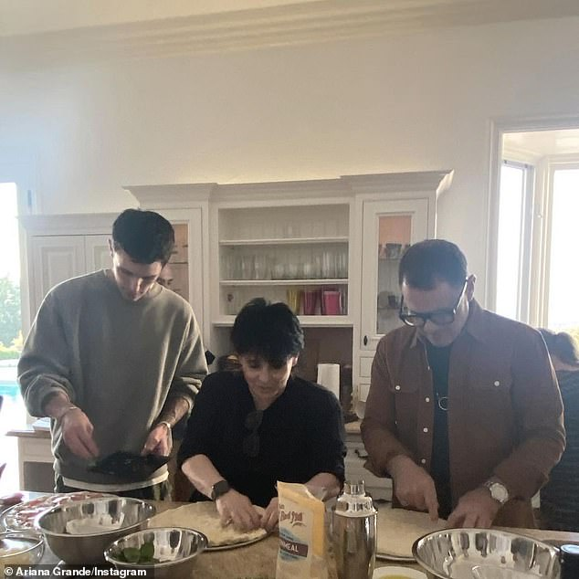 All about her family:The following image featured her parents Joan Grande and Ed Butera in the kitchen making pizza with her husband Dalton
