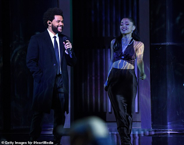 Duet:They performed their song late last month at the iHeartRadio Music Awards; seen at the awards show