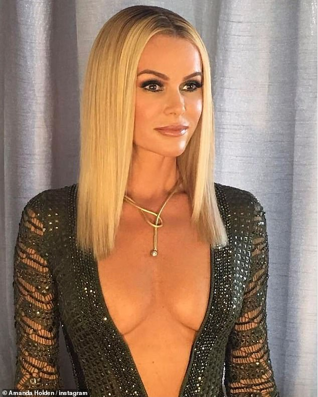 Racy:Amanda, 50, has caused controversy with her daring looks on BGT - with a recent dress sparking 235 complaints and another gown, pictured in 2017, leaving 663 viewers disgruntled