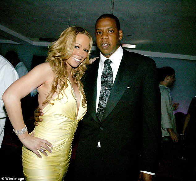 'Mariah and Jay had an explosive meeting which did not go well at all. She has made it clear she wants nothing more to do with him and has called it quits with Roc Nation,' a source told The Sun (pictured together all the way back in 2005)