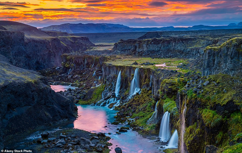 Raw natural beauty: A stunning shot of the gapingSigöldugljúfur canyon in the southern region of Iceland