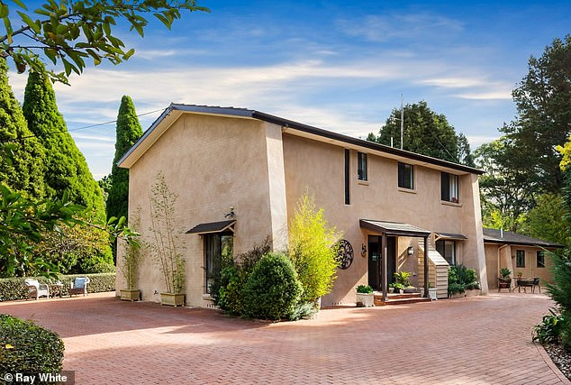 Nice digs:The former WAG purchased a $1.7 million Mediterranean-style property for $1,725,000, in Bowral