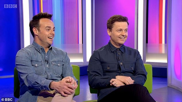 Double act:In a joint interview with The Times ahead of Sunday's BAFTA awards in which their show Saturday Night Takeaway is nominated, the pair, both 45, reflected on their friendship as they noted that 'a lot of double acts are short-lived' (pictured on The One Show)