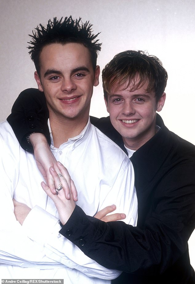 Longtime pals:They've been pals for over 30 years, with their partnership kicking off when they met on the set of children's dram Byker Grove in 1989 (pictured in 1995)