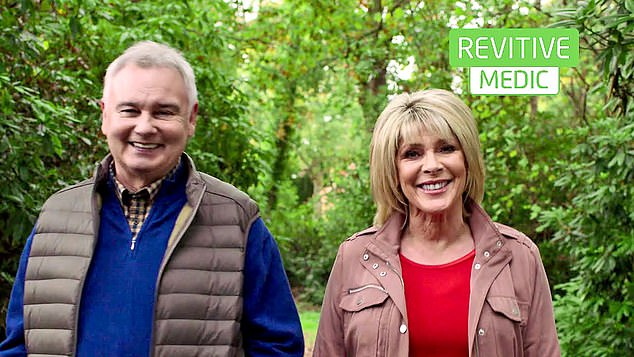 'Healthy legs': The couple, both 61, have been inundated with offers to front campaigns aimed at the over-55s