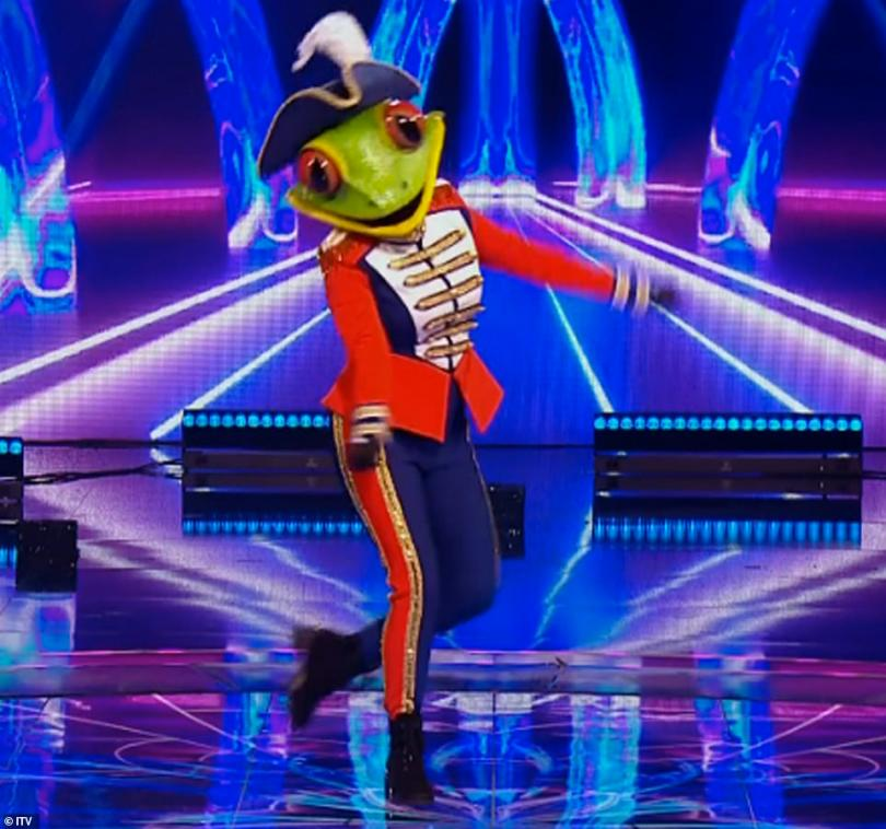No way! Next up to be unmasked was Frog who turned out to be none other than model and presenter Kelly, 41, leaving the judging panel stunned
