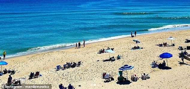 Cape Cod, Massachusetts: The beach at Cape Cod was lined with beach chairs and umbrellas on Saturday as many in the Northeast flocked to the beach to enjoy the warm weather