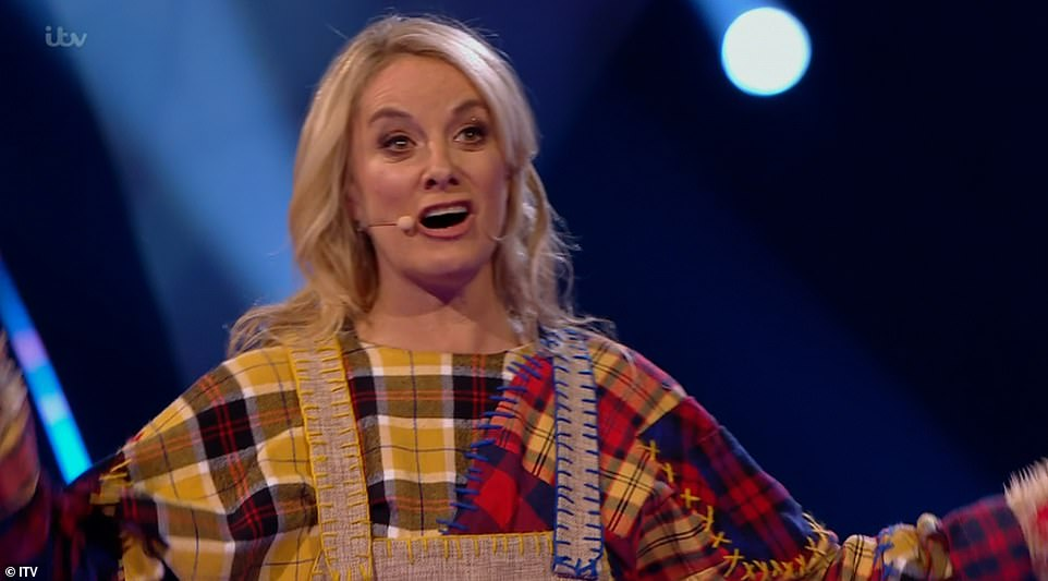 Clue: Tamzin had hinted that she was behind the mask earlier in the show saying her experience on the programme had 'exceeded all her expectations' in a nod to her starring role in the film Great Expectations in 2012.