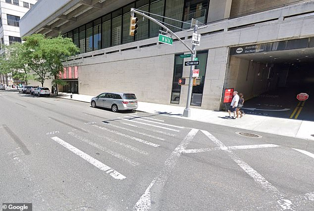 The force of the scooter's impact sent Banes flying out of this crosswalk.She was rushed by ambulance to Mount Sinai Morningside hospital