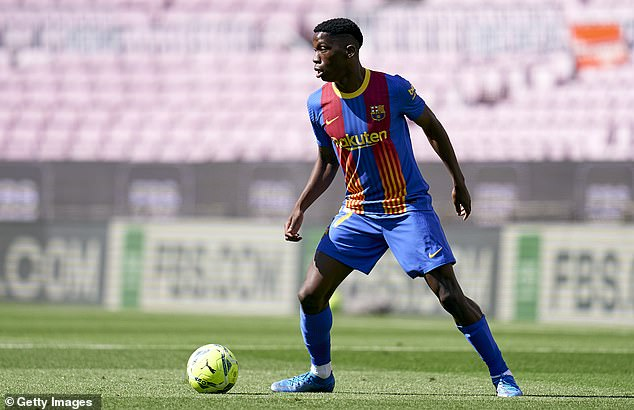 Barcelona are set to hold talks with Ilaix Moriba over a new deal amid interest from elsewhere
