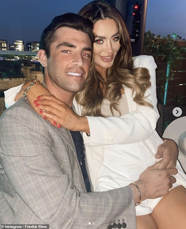 Making it official: Jack and Frankie enjoyed a night out on Sunday, both sharing loved-up snaps to Instagram