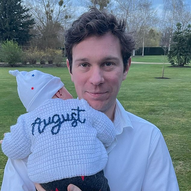 Princess Eugenie is a frequent social media user, with her and her husband Jack Brooksbank (pictured) posting the first picture of August just hours after he was born. Since then, the proud parents have shared a number of pictures of her son with Eugenie's over 1.5 million followers
