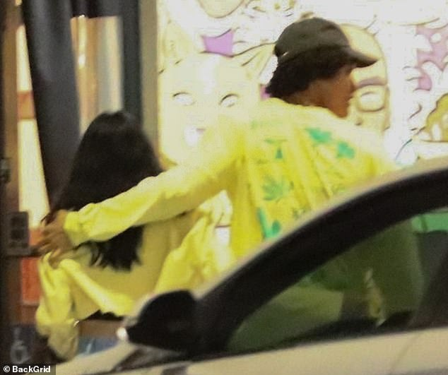 Getting close: Charles was seen wrapping his arm around Camila as they left the gathering at La Poubelle Bistro in La