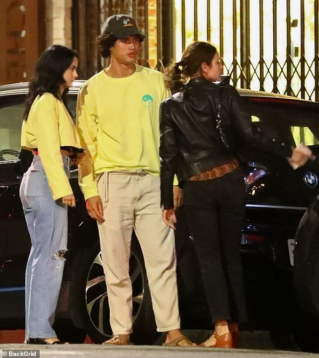 Back together? Camila Mendes, 26, and her Riverdale costar Charles Melton, 30, sparked rumors that they had reunited after they were spotted out with friends in Los Angeles on Friday night