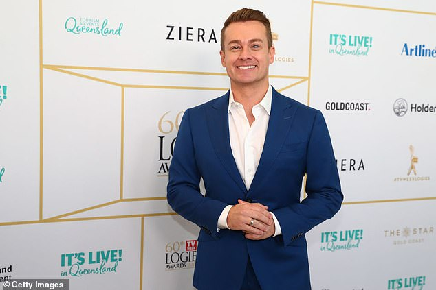 Claim to fame: Grant became a household name when he joined Seven's Sunrise in 2004 as weatherman. He went on to host Channel Ten's Family Feud from 2014 to 2020, and earlier this year starred on I'm A Celebrity... Get Me Out Of Here! Pictured at the Logie Awards in 2018