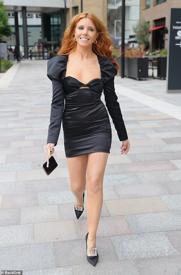 Wow!Stacey Dooley and her co-host Vick Hope looked nothing short of sensational as they left their hotel in glam black ensembles ahead of the ceremony on Sunday