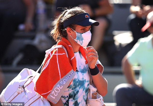 Konta split with Zavialoff for the second time after her first-round defeat at the French Open
