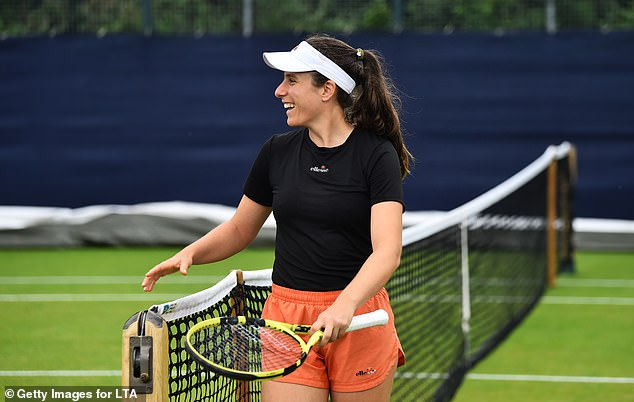 Konta said she was 'very happy' to be back on grass in the UK at the Viking Open in Nottingham