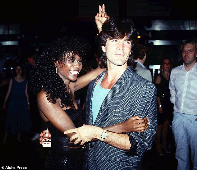 Happier times:They had an on-off romance for 20 years after first meeting in the 1980s (pictured 1985)