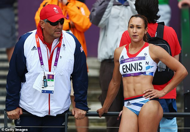 The BBC did not cover the suspension of Jessica Ennis-Hill's former coach Toni Minichiello (L)
