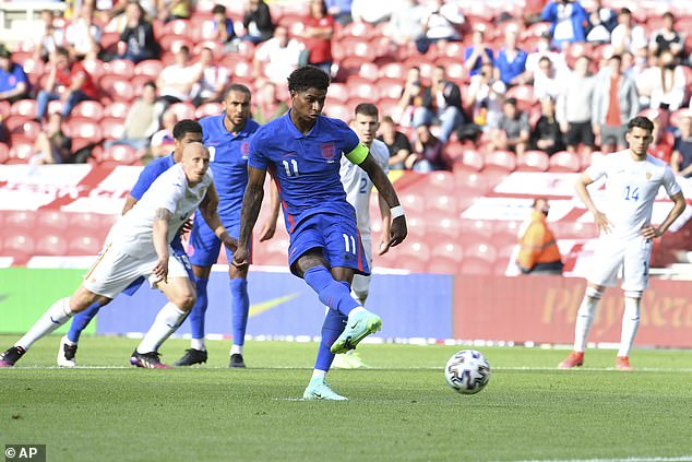 Marcus Rashford said the feeling of captaining England for the first time is 'unexplainable'