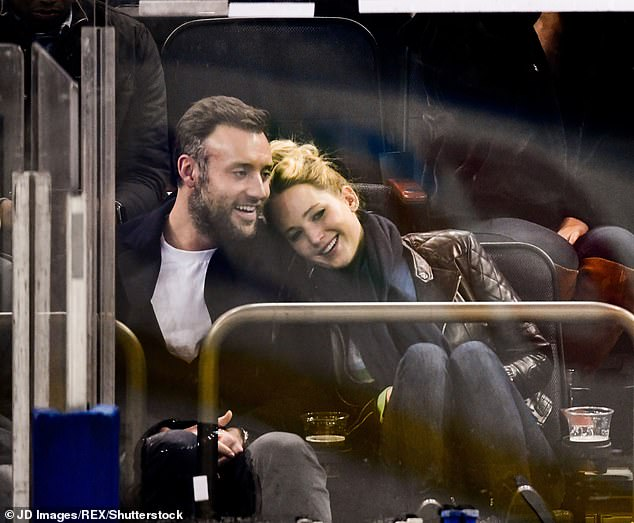 Happy couple: She was first linked to Cooke after they were introduced by mutual friends in 2018, and by February 2019, the blonde beauty was spotted wearing an engagement ring; seen in 2018