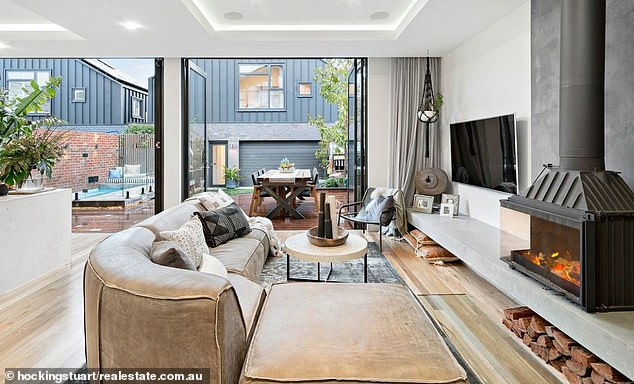 Lavish: The home featured in the 2017 season of home renovation show The Block and was purchased by Hughes for $3 million