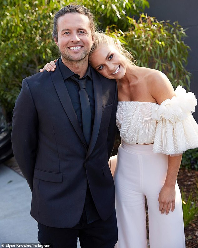 Winners: The Block starsJosh Barker and model Elyse Knowles pictured here