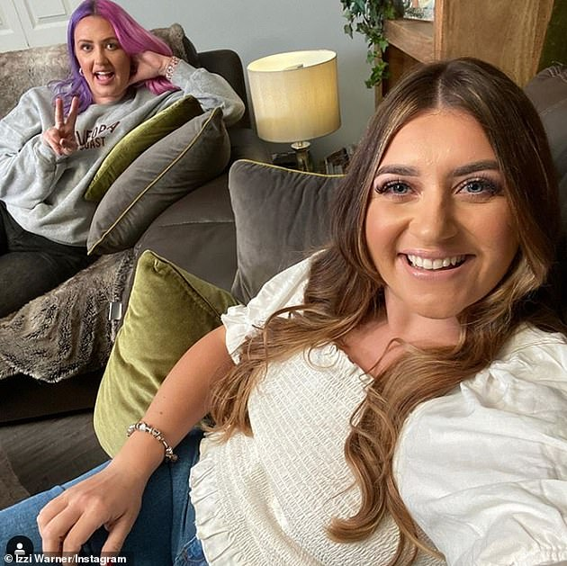 Sisters:Ellie and and her sister Izzi (pictured) have starred on Channel 4's Gogglebox since 2015