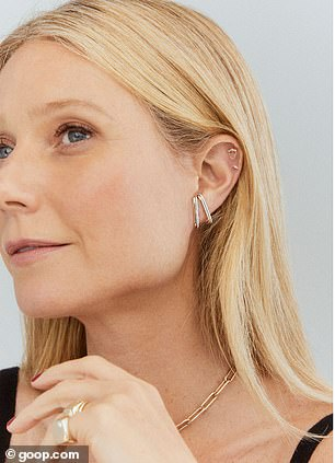 Not good:The launch of the jewelry line comes after it had been reported that Goop had suffered 'abysmal losses' in the UK