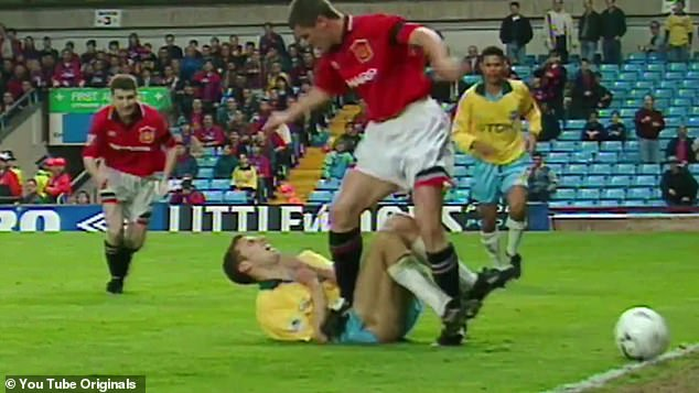 Southgate said he had to 'mature' at a young age in order to thrive. The former defender was stamped on by Man United legend Roy Keane in the 1995 FA Cup semi-final replay at Villa Park