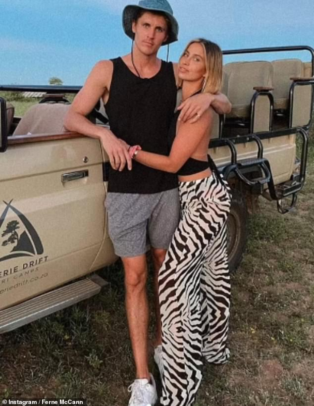 'Right guy, wrong time': The former TOWIE star, 30,and marketing manager are said to be 'on different paths' (pictured during their Safari trip in December)