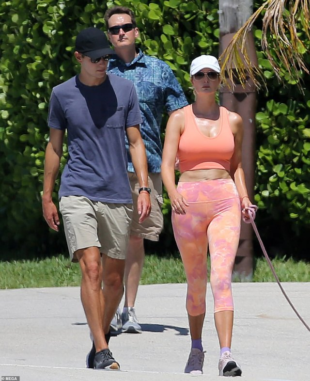 Staying out of the spotlight: Ivanka has been keeping a very low profile and has not been seen publicly since last month when she and Jared stepped out for a walk together on the beach