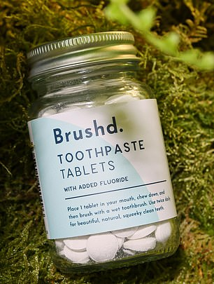 Brushd toothpaste tablets with added fluoride
