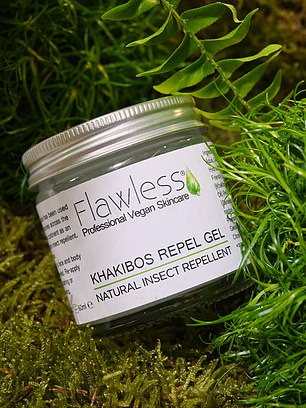Khakibos insect-repellent gel