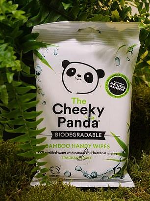 Cheeky Panda biodegradable handy wipes