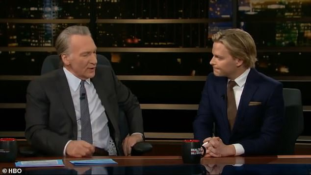The 33-year-old journalist (R) plays coy about the topic in most interviews, most recently telling Real Time host Bill Maher (L) in 2019: 'You can ask my mom'