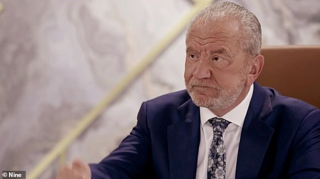 Sacked:Scherri-Lee Biggs was fired by Lord Sugar (pictured) on Monday's episode